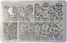 Assorted Stainless Steel Metric Flat Washers (650)
