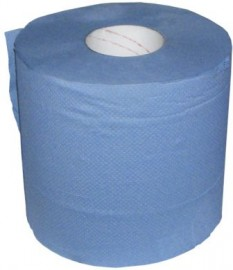 Paper Wipes 2-ply 190mm x 150m,  Blue Roll